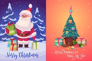 Christmas greeting card (set1)