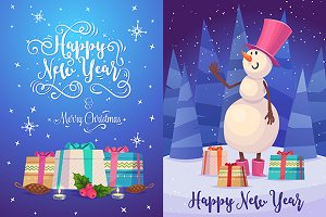 Christmas greeting card (set2)