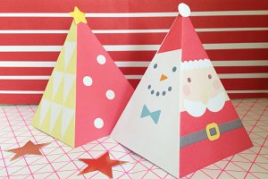 Two DIY Christmas Paper Trees