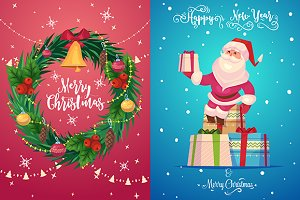 Christmas greeting card (set 3)