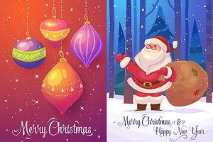 Christmas greeting card (set 4)