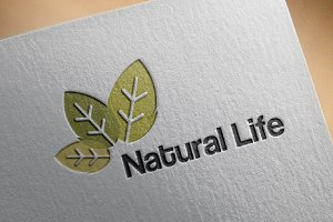 4 Natural Life Green Leaf Logo