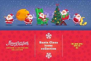 Cartoon Santa Claus illustrations