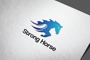 Strong Horse Running Fast Logo