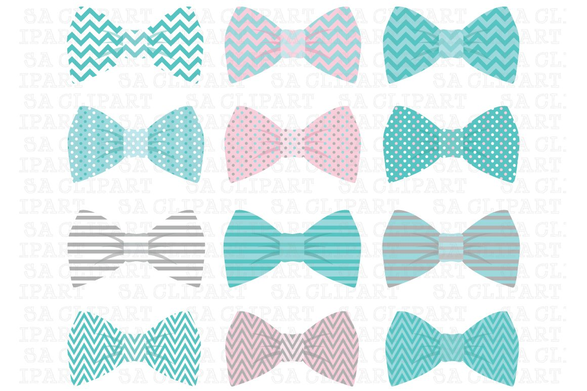 Bow Tie Clipart Illustrations Creative Market