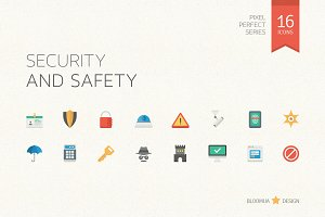 Security and Safety Flat Icons