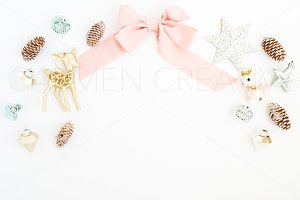 Christmas Bow Styled Stock Photo