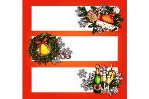 Christmas festive banners