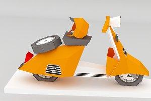 DIY Scooter Model - 3d papercraft