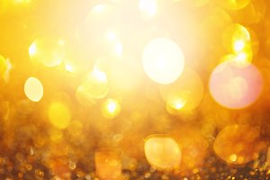 Bright Golden Defocused Background