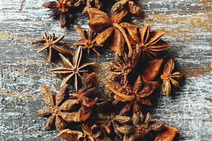 Heap of Star Anise