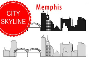 Memphis vector skyline