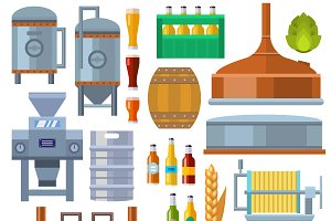Brewing equipment vector