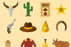 Wild west elements set