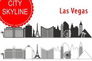 Las Vegas vector skyline