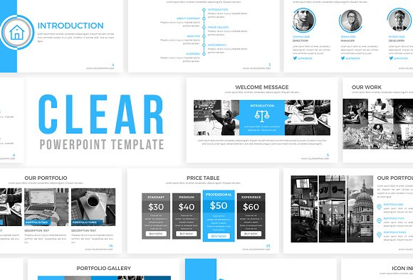 clear powerpoint template presentation templates creative market