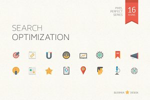 Search Optimization Flat Icons