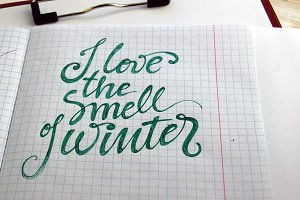 I love the smell of Winter
