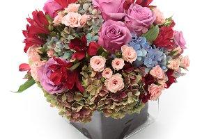 Floral arrangement on a vase