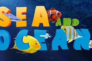 Word and tropical fish