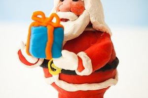 Plasticine Santa Claus