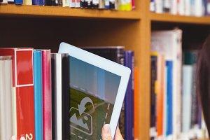 Digital tablet in library
