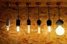 Burning electric bulbs