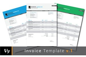 Professional Invoice Set