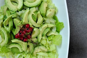 avocado salad with lettuce