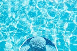 Woman in the swimming pool.