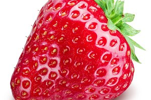 Strawberry on the white