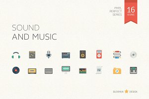 Sound and Music Flat Icons