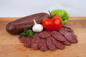 Domestic sliced salami