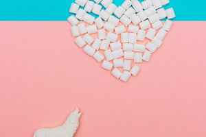 heart of the marshmallows