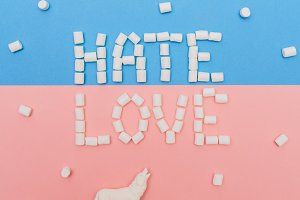 Love and Hate by marshmallows