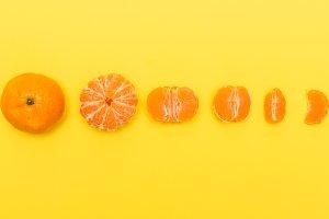 Gradual peeling of tangerine