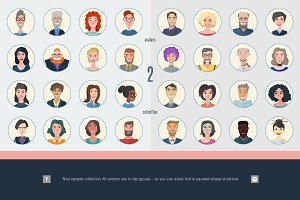 Nice People. Cartoon-style avatars