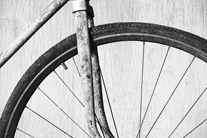Rusty old bicycle