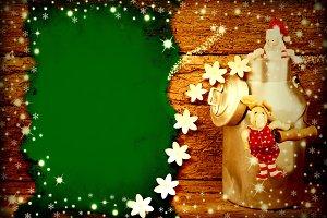 Cheerful Christmas card. Copyspace