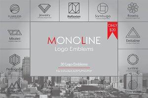 Geometric Monoline Logo Emblems