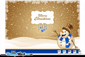 4 Christmas Backgrounds/scenes-Blue