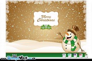 4 Christmas Scenes - Green