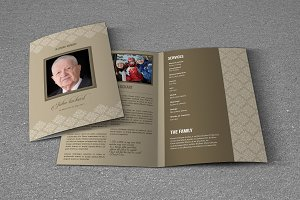 Funeral Program Template-T632