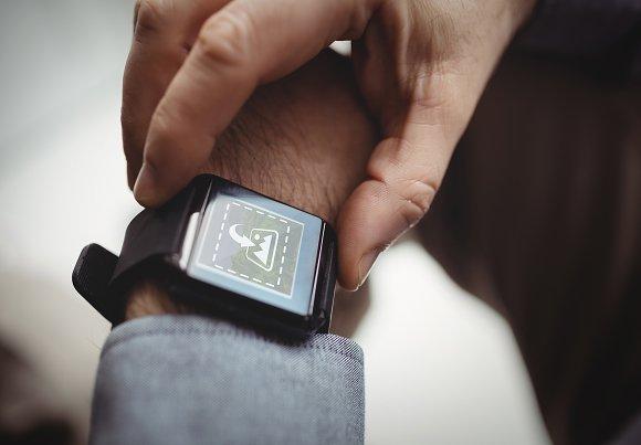 Smart watch on arm