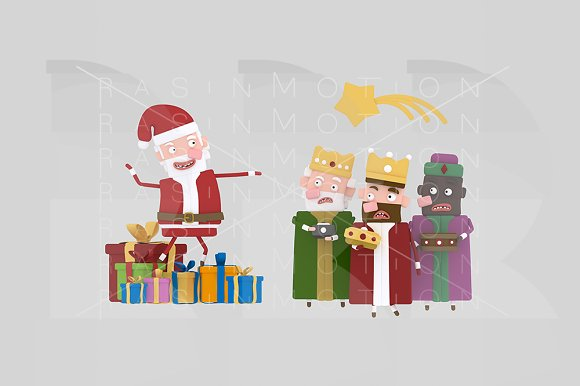 3D Illustration Claus Vs Kings
