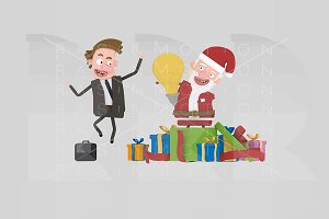 3d illustration. Santa Claus Idea.