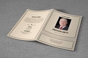 Funeral Program Template-T634