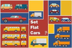 Set of flat cars