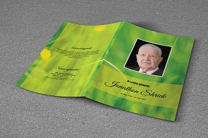 Funeral Program Template-T635