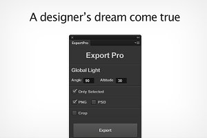 Export Pro Photoshop CS6 - CC Plugin